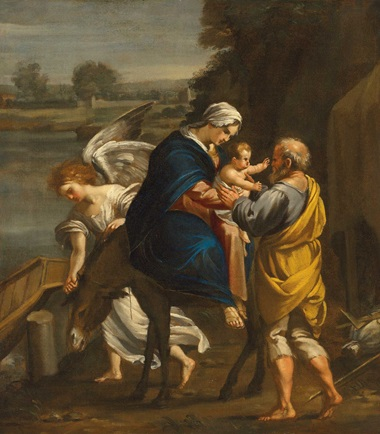 François Perrier (1590-1650), The Flight into Egypt. Oil on canvas, 30¼ x 26⅞ in (76.9 x 68.5 cm). Estimate £8,000-12,000. Offered in Discovering Old Masters The Legacy of Piero Corsini, 23 September-7 October 2020, Online