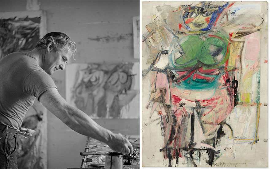 De Kooning's Woman (Green) — a