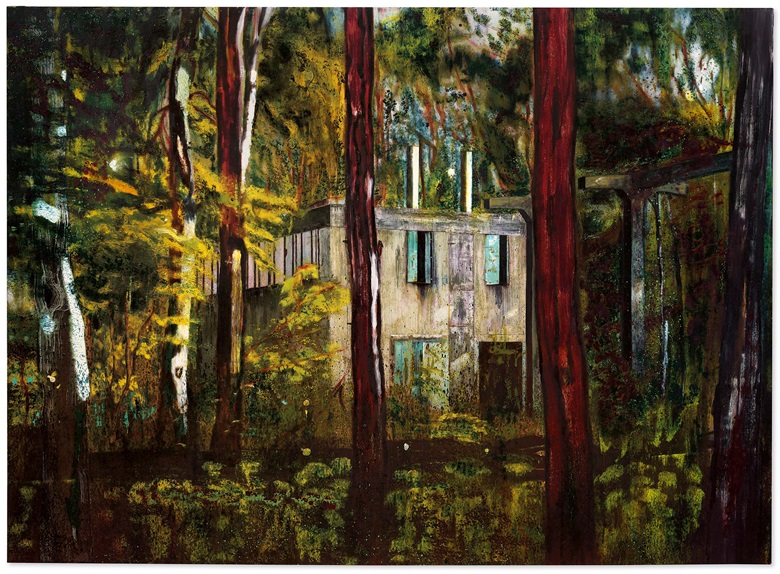 Peter Doig (b. 1959), Boiler House, 1993. Oil on canvas. 78¾ x 108¼ in (200 x 275 cm). Estimate on request. Offered in Post-War and Contemporary Art Evening Sale on 22 October at Christie's in London