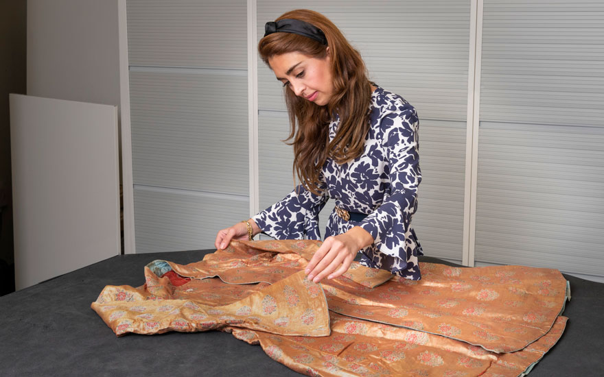 'It's very rare to see an entire Mughal brocaded robe of this quality and date at auction'