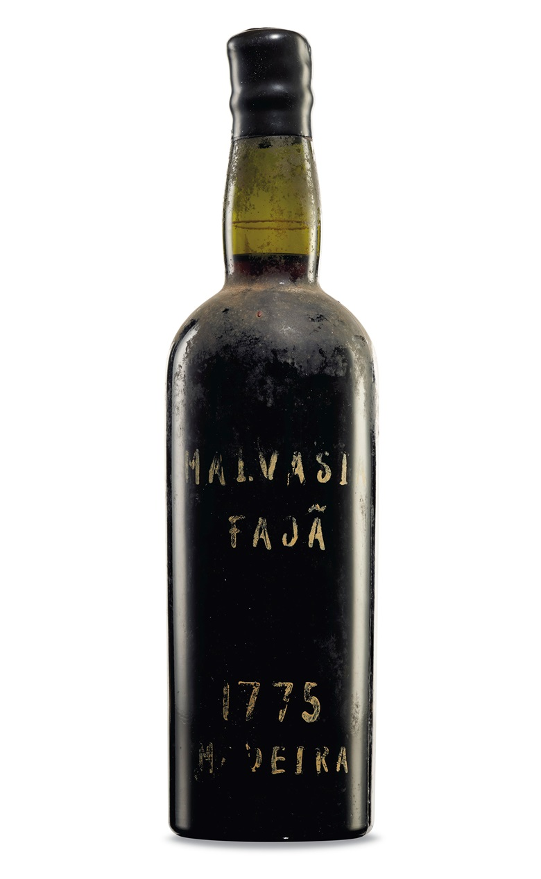 Faja, Malvasia 1775 (Lot 423). 1 bottle per lot. Estimate $5,000-7,000. Offered in Fine & Rare Wines and Spirits Including Historic Madeira Direct from the Island, 10-24 November, Online