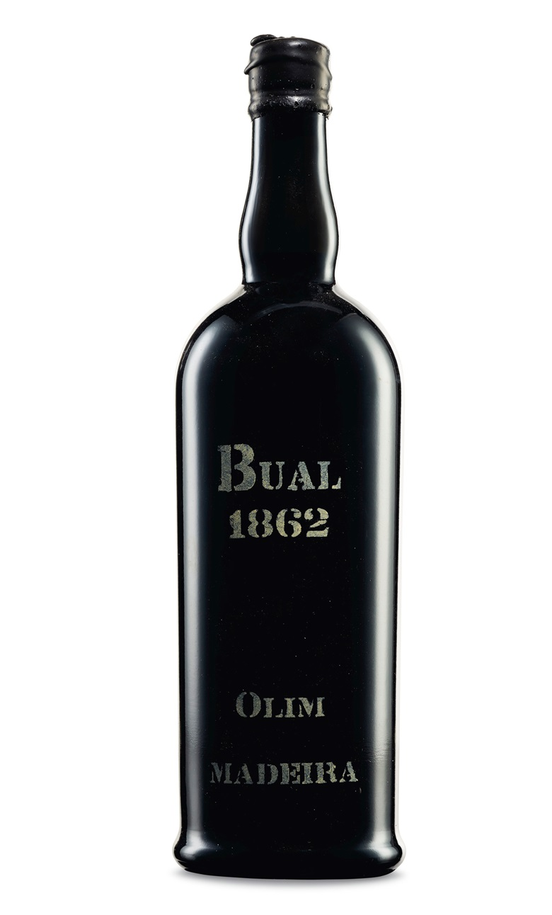 Olim, Bual 1862 (Lots 466-469). 1 bottle per lot. Estimate $700-900. Offered in Fine & Rare Wines and Spirits Including Historic Madeira Direct from the Island, 10-24 November, Online