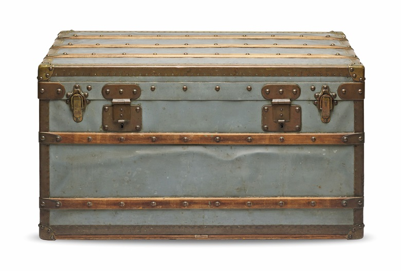 A rare, zinc Explorer trunk, Louis Vuitton, 1886. 86 w x 47 h x 49 d cm. Estimate HK$300,000-400,000. Offered in Handbags & Accessories on 27 November 2020 at Christie's in Hong Kong