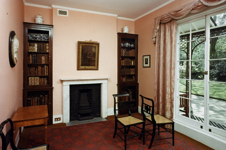 The sitting room in Keats House in Hampstead, north London, is arranged to look much as it was when Joseph Severn visited the poet on the day he composed Ode to a Nightingale. Photo Granger  Bridgeman Images