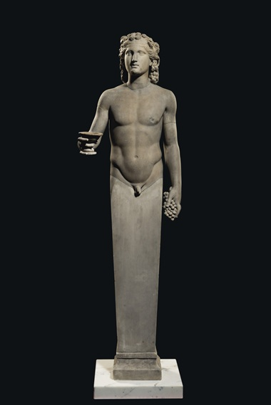 A Roman marble terminal figure of Dionysus, circa 2nd century AD. 59½ in (151 cm) high. Estimate £700,000-1,000,000. Offered in Antiquities on 16 December 2020 at Christie's in London