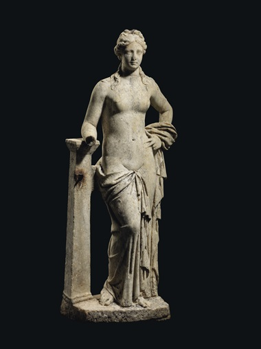 A Roman marble Venus, circa 1st-2nd century AD. 50 in (127 cm) high. Estimate £250,000-350,000. Offered in Antiquities on 16 December 2020 at Christie's in London