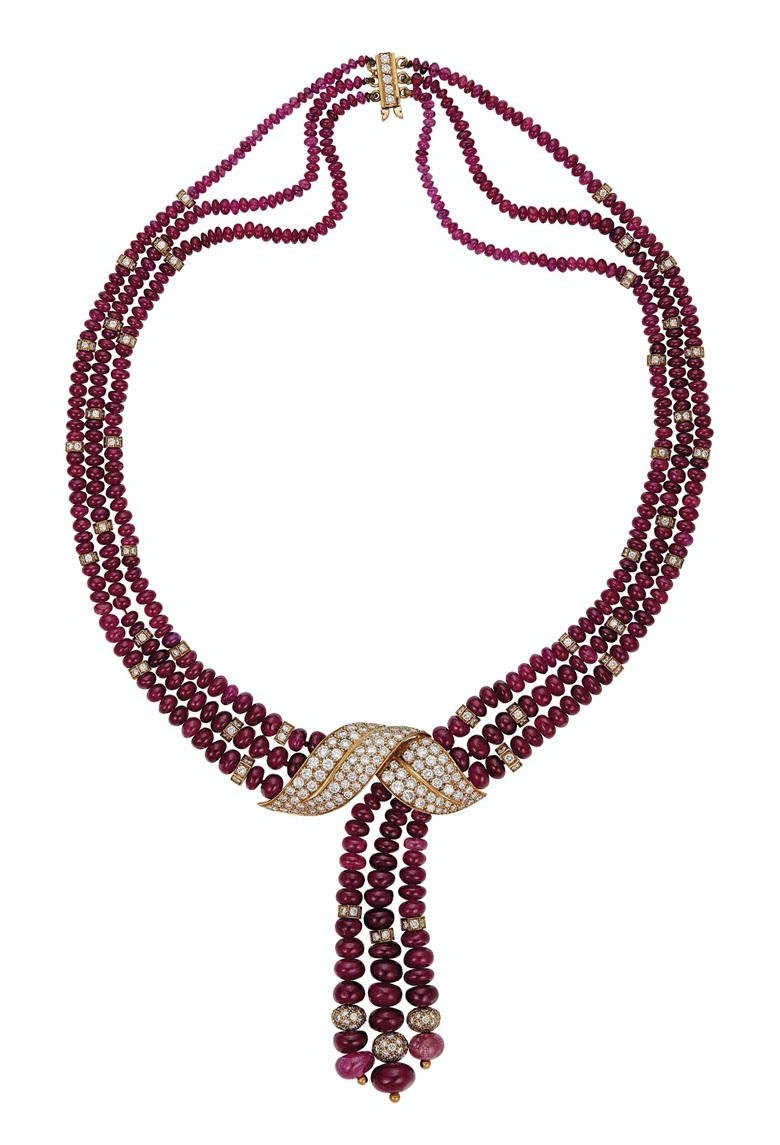 Ruby and diamond necklace, Boucheron. Estimate $12,000-18,000. Offered in Magnificent Jewels on 8 December 2020 at Christie's in New York