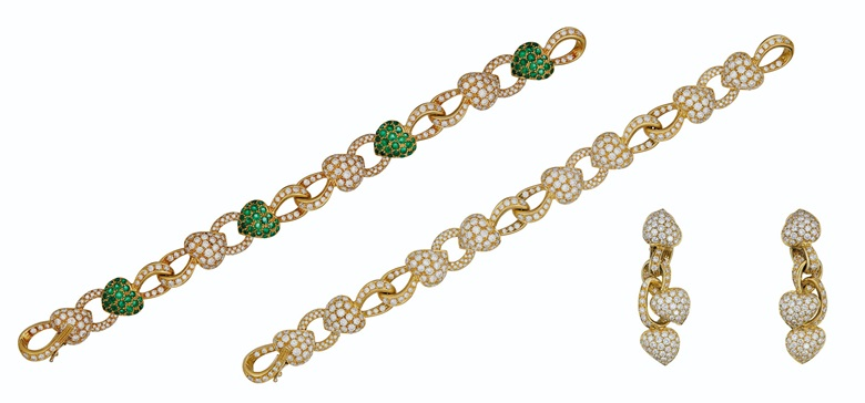 Set of diamond and emerald jewellery, Boucheron. Estimate $15,000-20,000. Offered in Magnificent Jewels on 8 December 2020 at Christie's in New York