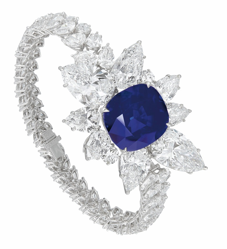An extraordinary sapphire and diamond bracelet. Estimate $5,000,000-7,000,000. Offered in Magnificent Jewels on 8 December 2020 at Christie's in New York