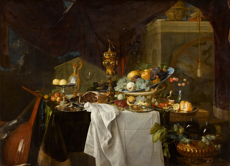 De Heem's A Table of Desserts, 1640, in the Louvre, is remarkably similar to A Banquet Still Life. Photo © RMN Grand Palais (musée du Louvre)  Franck Raux
