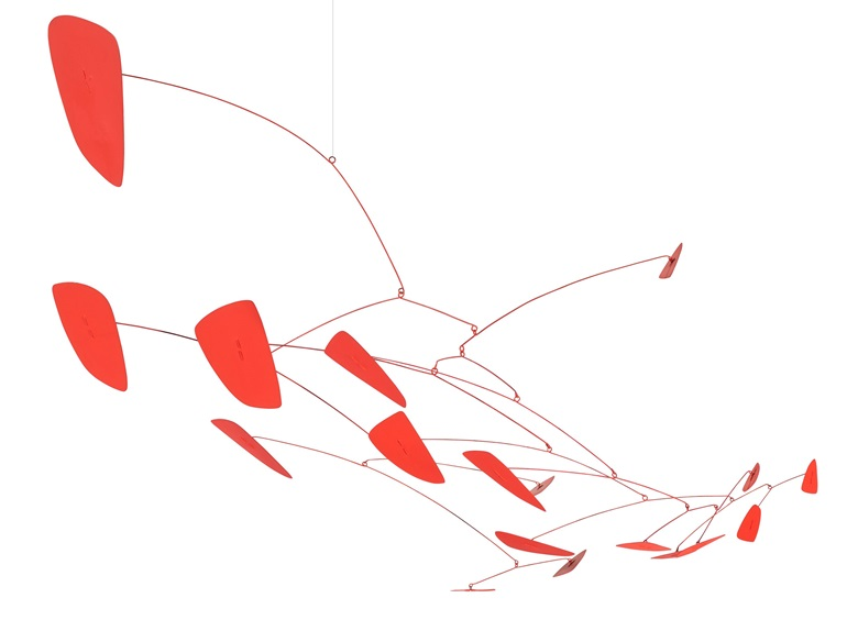 Alexander Calder (1898-1976), Red Cascade, 1960. Hanging mobile. Sheet metal, wire and paint. 33 x 41 x 21½ in (83.8 x 104.1 x 54.6 cm). Estimate $1,500,000-2,000,000. Offered in 20th Century Hong Kong to New York