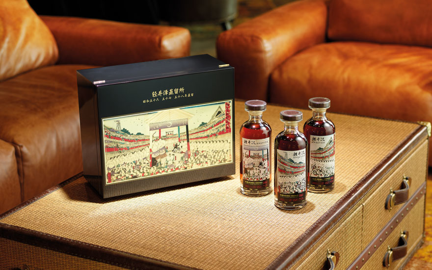 Karuizawa Honor Sumo Triple Set, 3 bottles (700ml) per lot. Estimate HK$180,000-220,000. Offered in Finest & Rarest Wines and Spirits Including A Magnificent Collection of Karuizawa   on 5