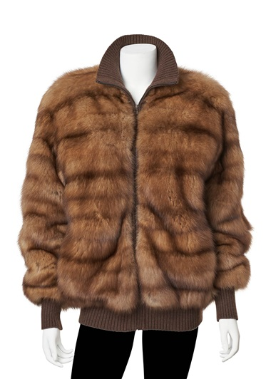 A sable fur bomber jacket, Hermès, from the collection of Susan Casden. Offered in Handbags & Accessories Online The New York Edition, 24 November-10 December 2020, Online
