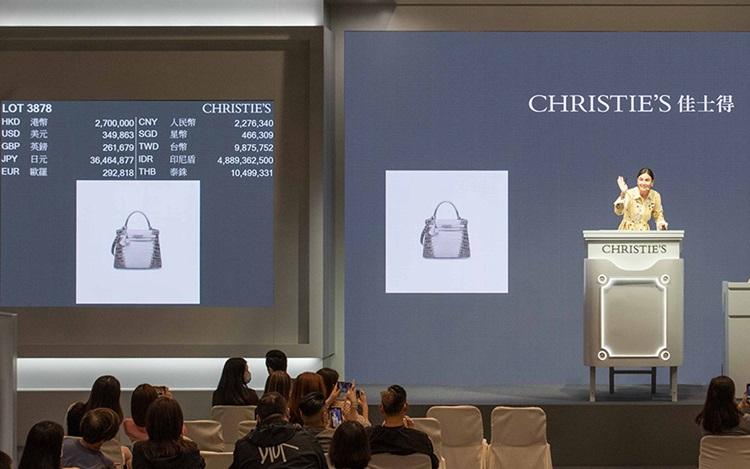 佳士得香港手袋及配飾拍賣成交總額逾4600萬港元,先後兩次打 auction at Christies
