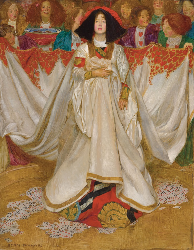 John Byam Liston Shaw (1872-1919), The Queen of Hearts. Oil on canvas. 36 x 28 in (91.4 x 71.1  cm).  Sold for £790,500 in The Joe Setton Collection from Pre-Raphaelites to Last Romantics on 10 December 2020 at Christie's in London