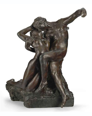 Auguste Rodin, Eternel Printemps, premier état, taille originale-variante type C, 1884-94. Bronze with dark brown patina. Sold for $2,770,500 on 4 May 2011 at Christie's in New York