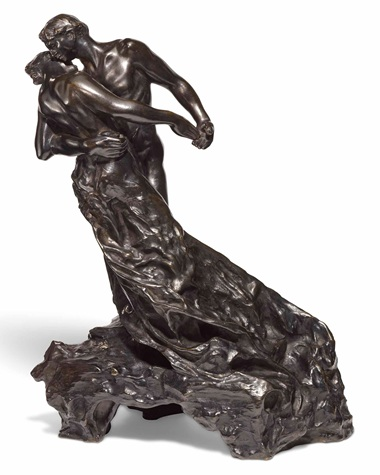 Camille Claudel, La valse or Les valseurs, grand modèle, 1895.  Bronze with dark brown patina. Sold for £1,112,750 on 20 June 2018 at Christie's in London
