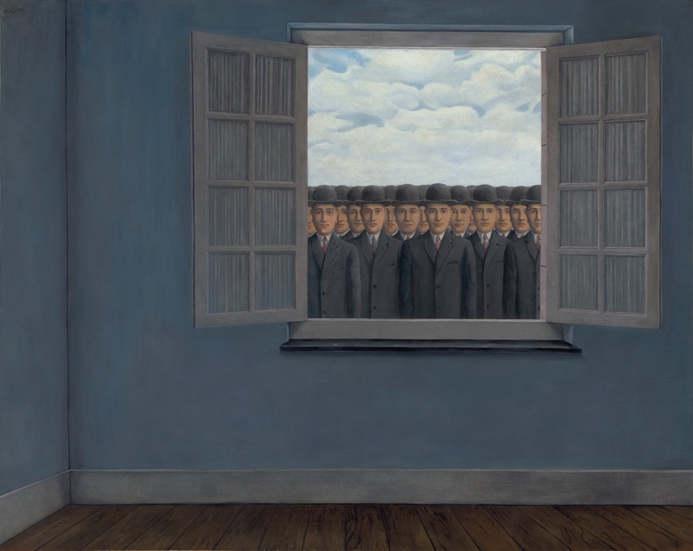 René Magritte (1898-1967), Le mois des vendanges, 1959. Oil on canvas. 51¼ x 63 in (127.6 x 160 cm). Estimate £10,000,000-15,000,000. Offered in The Art of the Surreal on 23 March 2021 at Christie's in London