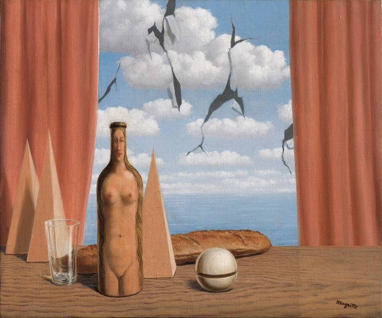 René Magritte (1898-1967), Le monde poétique, 1947. Oil on canvas. 19¾ x 23¾ in (50.3 x 60.4 cm). Estimate £3,000,000-5,000,000. Offered in The Art of the Surreal on 23 March 2021 at Christie's in London