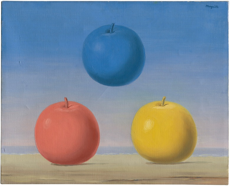 René Magritte (1898-1967), Les jeunes amours, 1963. Oil on canvas. 13 x 16¼ in (33 x 41.4 cm). Estimate £2,000,000-3,000,000. Offered in The Art of the Surreal on 23 March 2021 at Christie's in London