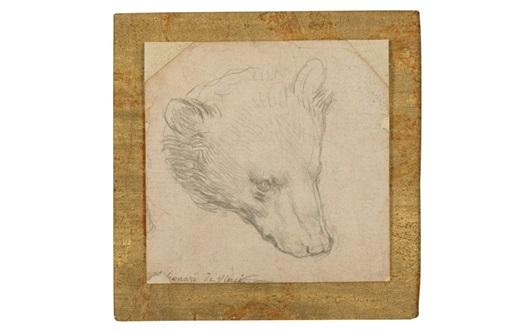 Leonardo's Head of a Bear (and auction at Christies