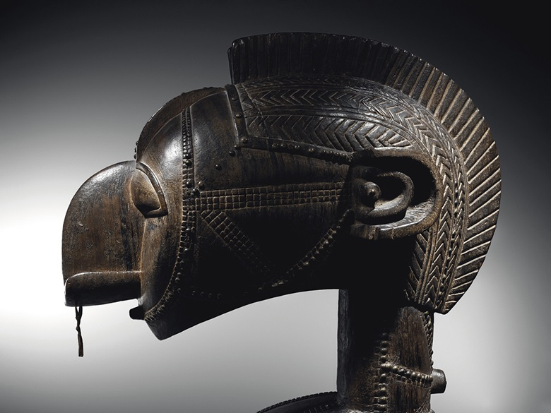 Baga Nimba shoulder mask, Guinea. Height 124.5 cm (49 in). Estimate €800,000-1,200,000. Offered in Collection Michel Périnet on 23 June 2021 at Christie's in Paris