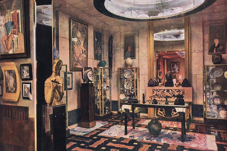 Jacques Doucet's 'studio' at the Villa St James, Neuilly published in L'Illustration, 1930