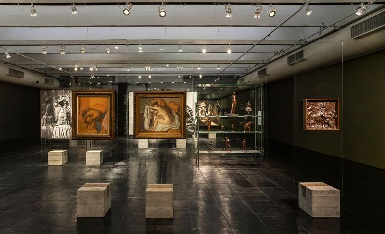 Installation view of Degas at MASP. Photo Eduardo Ortega