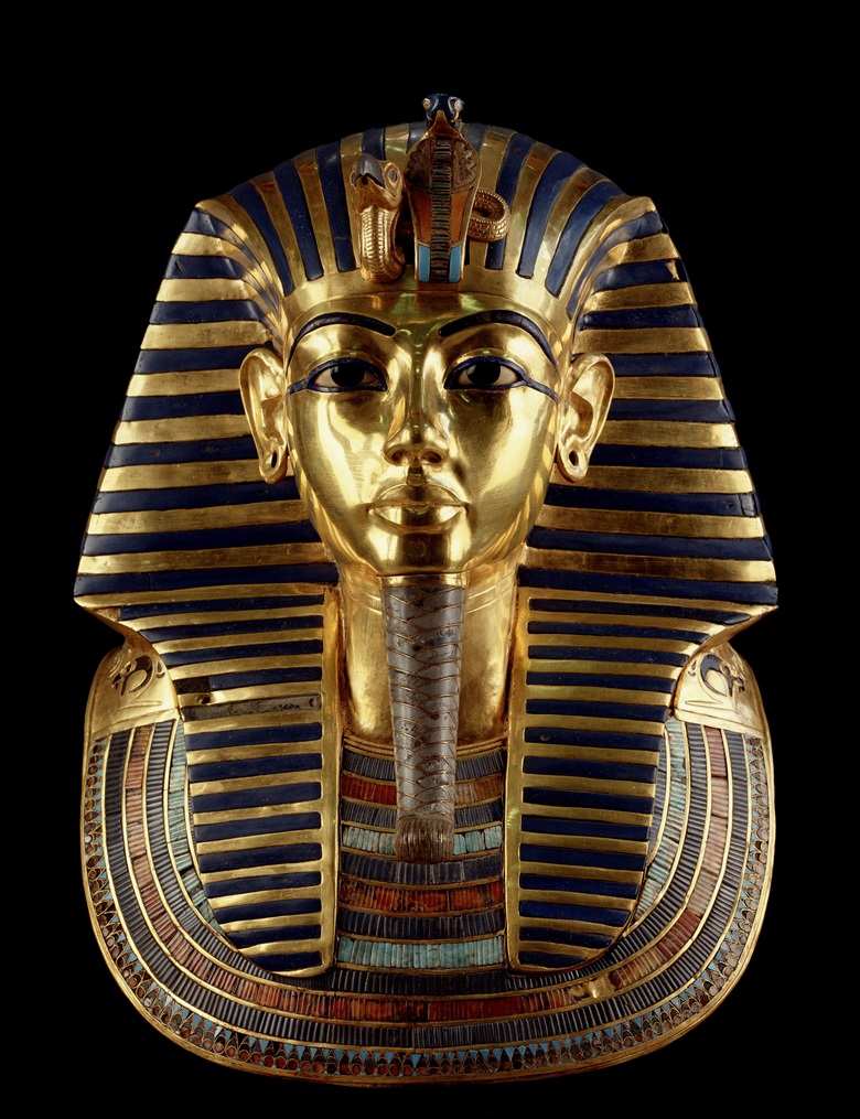 The gold death mask of Tutankhamen, one of some 4,000 artefacts from the pharaoh's tomb on display at the Grand Egyptian Museum. Photo © Andrea Jemolo  Bridgeman Images