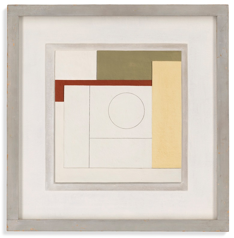 Ben Nicholson, O.M. (1894-1982), 1939 (composition), 1939. Oil and pencil on board. 14¼ x 13⅞ in (36.2 x 34.7 cm). Estimate £250,000-350,000. Offered in the Modern British Art Evening Sale on 1 March at Christie's in London. Artwork © Angela Verren Taunt. All rights reserved, DACS 2021