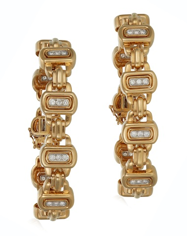 Diamond and gold bracelets, by David Webb. Estimate $8,000-12,000. Offered in Jewels Online, until 10 February 2021, Online