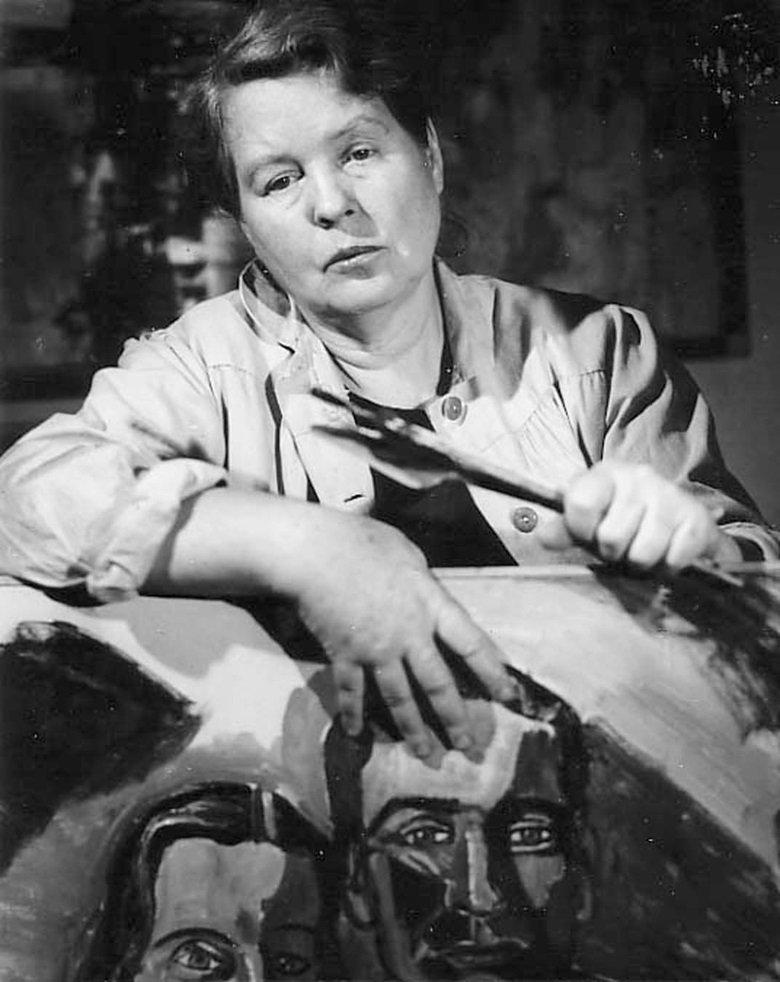 'An artist who defied convention' Alice Neel in her New York studio, circa 1960. Photo Estate of Alice Neel
