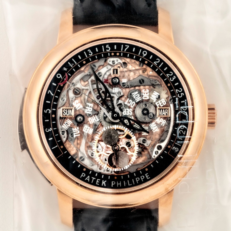 Patek Philippe. An 18k pink gold automatic semi-skeletonised minute repeating perpetual calendar wristwatch with retrograde date, moon phases, leap year indication, ref. 5304R, circa 2016. Estimate HKD 3,200,000-4,800,000  USD 420,000-620,000. This lot is offered in Important Watches on 29 May 2017 at Christie's in Hong Kong