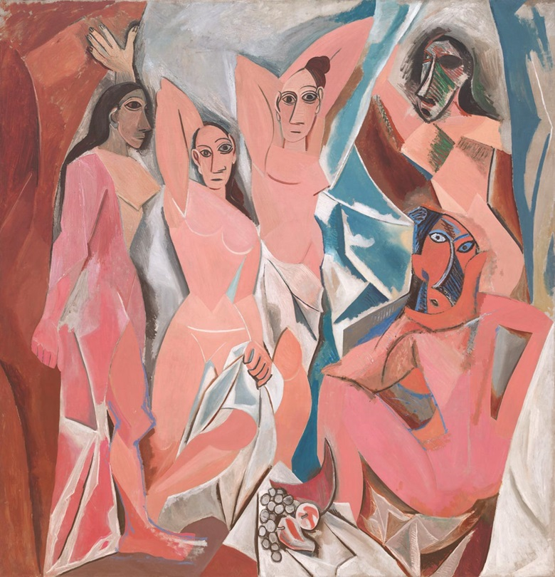 Pablo Picasso, Les Demoiselles d'Avignon, 1907. Museum of Modern Art, New York.  © 2018 Estate of Pablo Picasso  Artists Rights Society (ARS), New York.  Photo © The Museum of Modern Art  Licensed by SCALA  Art Resource, New York.