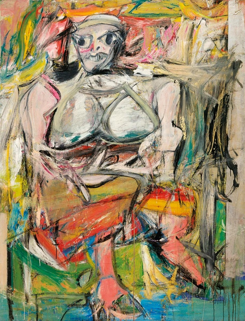 Willem de Kooning, Woman I, 1950-1952. Museum of Modern Art, New York. Artwork © 2018 The Willem de Kooning Foundation  Artists Rights Society (ARS), New York. Photo © The Museum of Modern Art  Licensed by SCALA  Art Resource, NY.