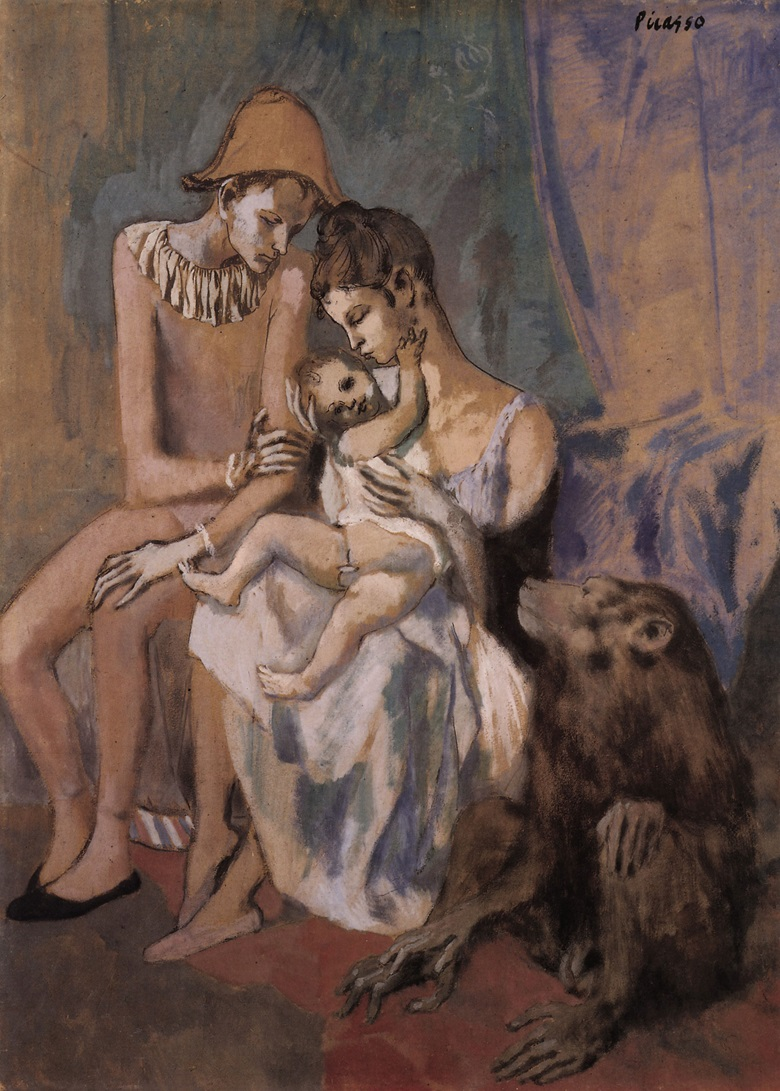 Pablo Picasso, Famille dacrobates avec singe, Paris, 1905. Formerly in the Collection of Gertrude Stein; Konstmuseum, Göteborg. © 2018 Estate of Pablo Picasso  Artists Rights Society (ARS), New York.