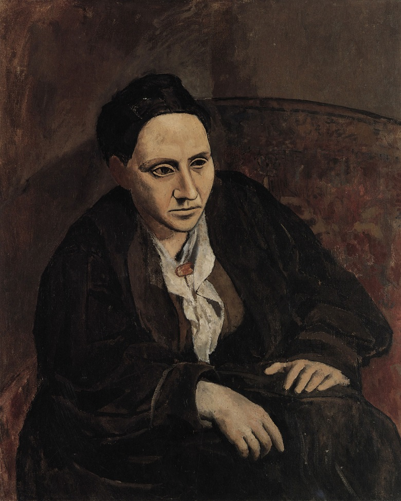 Pablo Picasso, Portrait de Gertrude Stein, Paris, winter 1905-autumn 1906. Gift of Gertrude Stein to The Metropolitan Museum of Art, New York. © 2018 Estate of Pablo Picasso  Artists Rights Society (ARS), New York.