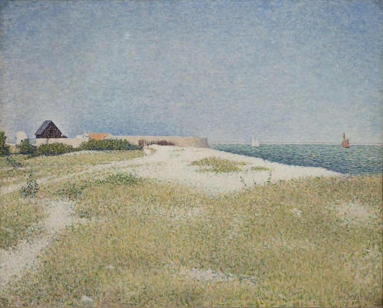 Georges Seurat, Le Fort Samson à Grandcamp, 1885. The State Hermitage Museum, Saint Petersburg. Photo © The State Hermitage Museum photo by Vladimir Terebenin.