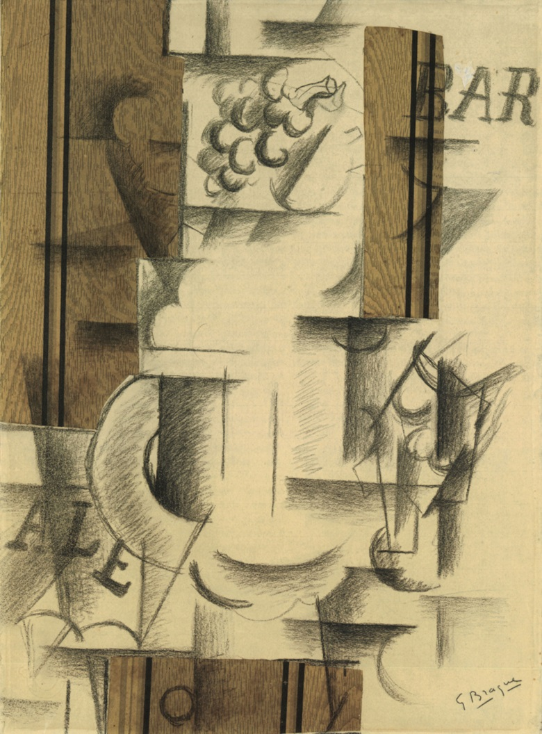 Georges Braque, Compotier et verre, Sorgues, September 1912. The Metropolitan Museum of Art, The Leonard A. Lauder Collection, New York. © 2018 Artists Rights Society (ARS), New York  ADAGP, Paris.