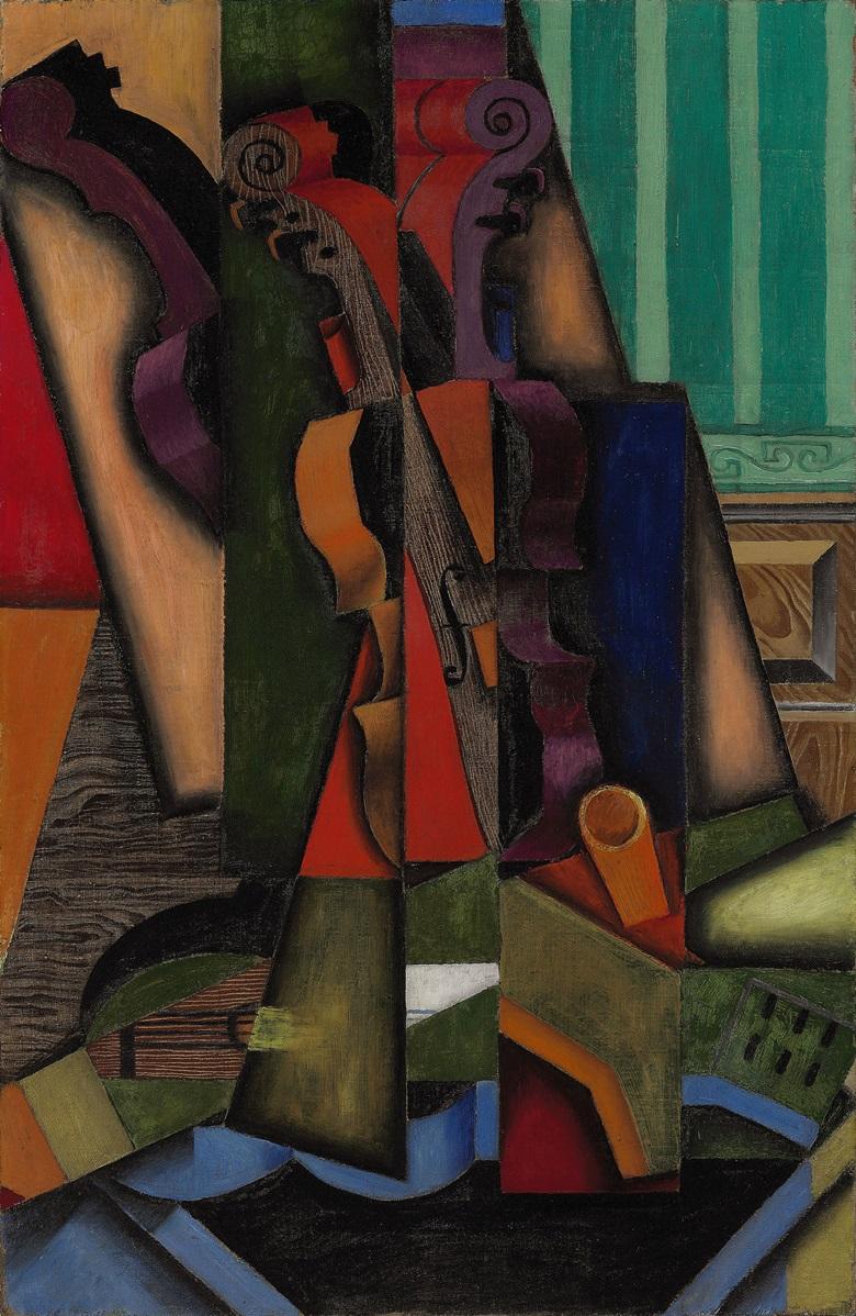 Juan Gris, Violon et guitare, Céret, September 1913. Sold, Christies New York, 3 November 2010, lot 23.