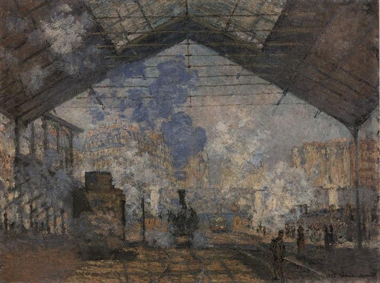 Claude Monet, La Gare Saint- Lazare, 1877. Musée d'Orsay, Paris.