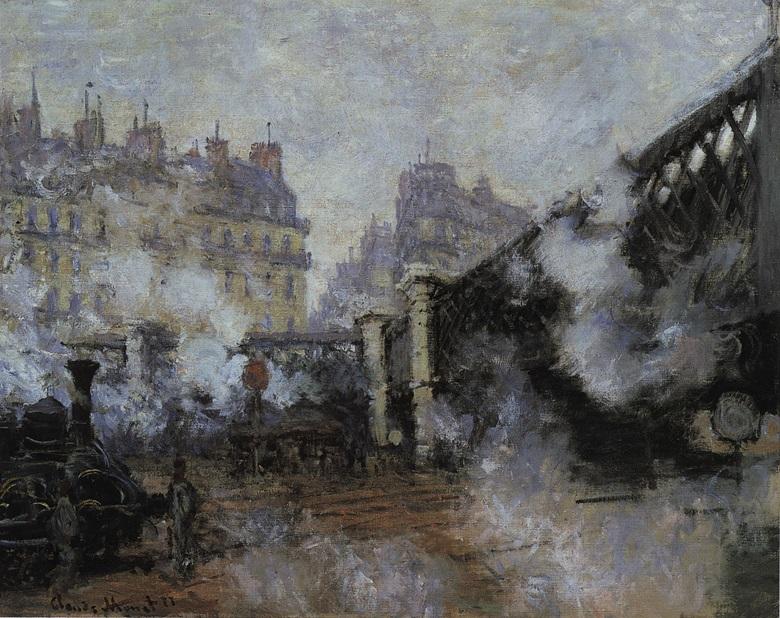 Claude Monet, Le Pont de l'Europe, Gare Saint-Lazare, 1877. Musée Marmottan, Paris.