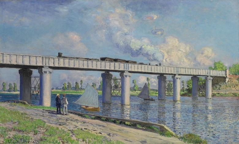 Claude Monet, Le pont du chemin de fer à Argenteuil, 1873. Sold, Christie's New York, 6 May 2008, lot 21.