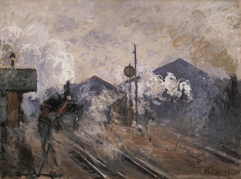 Claude Monet, Les voies à la sortie de la Gare Saint-Lazare, 1877. Private Collection.