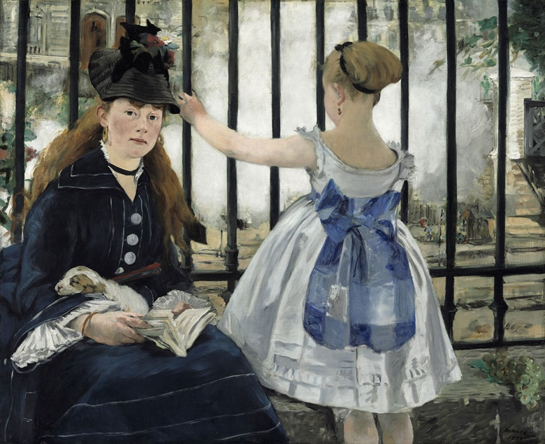 Edouard Manet, La Gare Saint- Lazare, 1872-1873. Formerly in the Collection of H.O. and Louisine Havemeyer; National Gallery of Art, Washington, D.C.