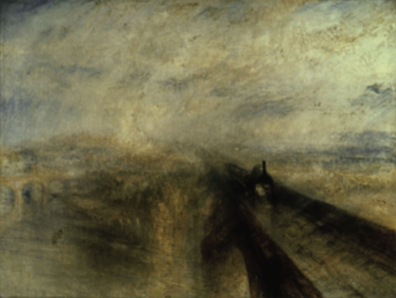 Joseph Mallord William Turner, Rain, Steam, Speed The Great Western Railway, 1844. National Gallery, London.