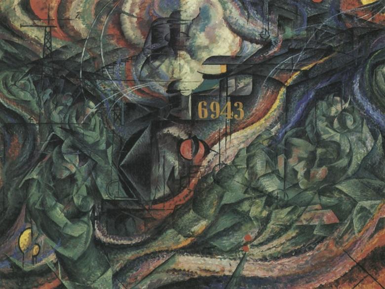 Umberto Boccioni, Gli addii Stati danimo II, 1911. The Museum of Modern Art, New York.