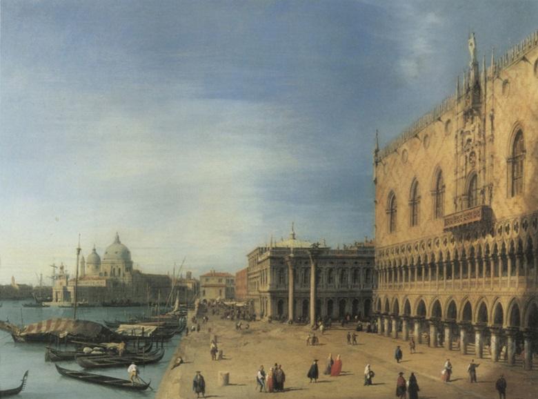 Giovanni Antonio Canal, il Canaletto, Vista di Molo. Museum of Art, El Paso.