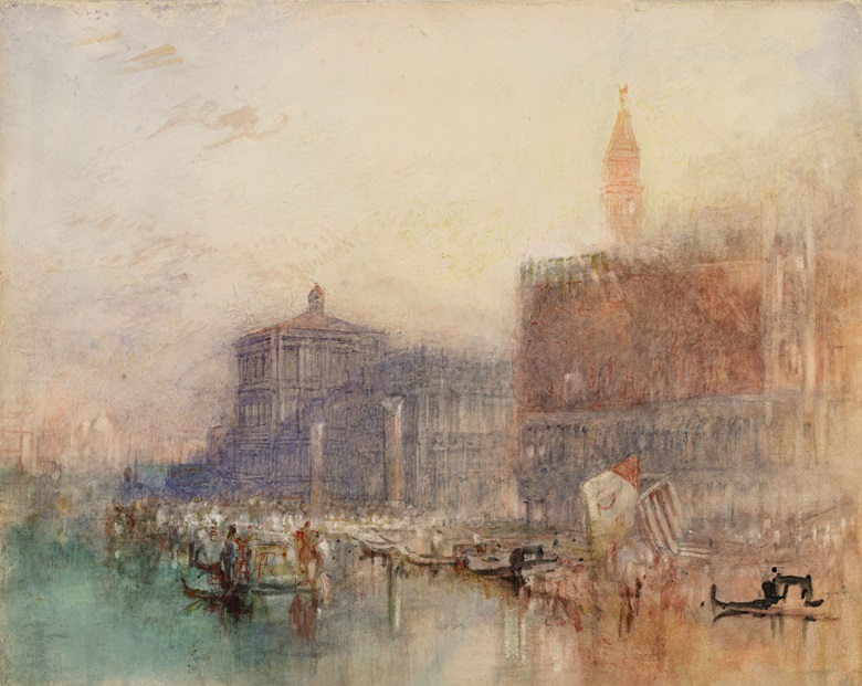 Joseph Mallord William Turner, The Doges' Palace and the Piazetta, circa 1840. National Gallery of Ireland, Dublin. © National Gallery of Ireland.