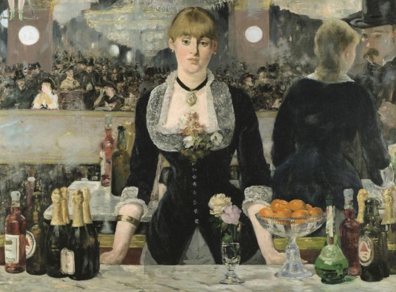 Edouard Manet, Le bar aux Folies-Bergère, 1881-1882. Courtauld Institute Galleries, London.